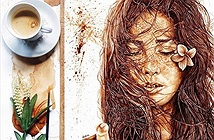 Hình ảnh độc lạ ai cũng choáng ngợp trước nghệ thuật từ cà phê