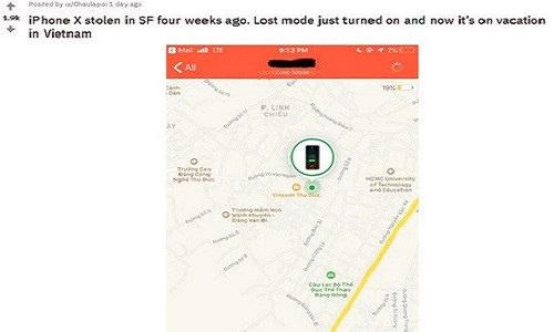 Mất trộm iPhone X ở Mỹ, 4 tuần sau thấy ở... Việt Nam