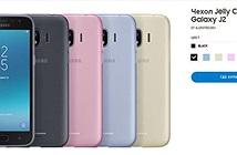 Hình ảnh Galaxy J2 (2018) xuất hiện trên trang chủ của Samsung