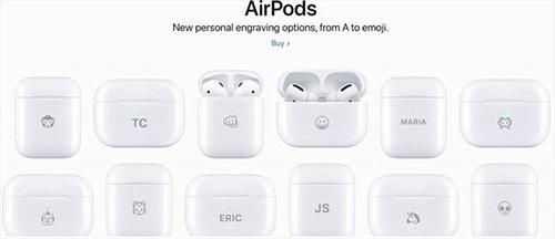 Giờ đây bạn có thể khắc biểu tượng cảm xúc lên hộp sạc AirPods