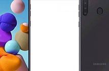 Galaxy A21 lộ diện gây sốc với 4 camera sau