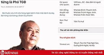 """Bộ TT&TT chỉ đạo xử lý trang tinmoi.vn đăng nhầm ảnh nhà văn Văn Công Hùng thành """"Út trọc"""""""