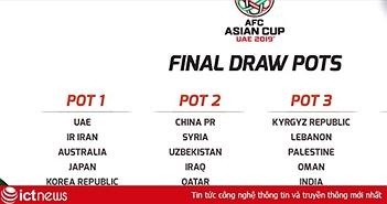 Địa chỉ trực tiếp bốc thăm Asian Cup 2019 trên mạng
