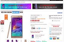 Galaxy Note 4 bất ngờ tụt giá còn dưới 12 triệu đồng