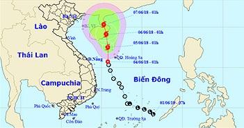 Áp thấp nhiệt đới chuyển hướng, di chuyển lên phía Bắc