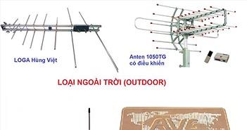 Đọ giá một số loại anten thu truyền hình số DVBT-2 tốt nhất