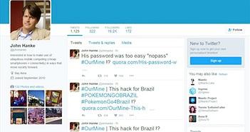 CEO công ty phát hành Pokémon GO bị hack tài khoản Twitter