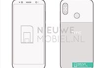 HTC U12 Life lộ ảnh phác thảo: camera kép đặt dọc, mặt lưng giống Pixel 2