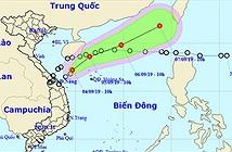 Áp thấp nhiệt đới Kajiki suy yếu trên biển Đông