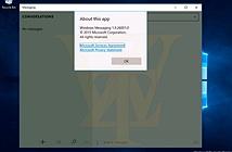 Rò rỉ Windows 10 build 10558: đã có Messaging kết hợp Skype, cho cài app ra bộ nhớ ngoài