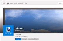 Ứng dụng Paint.net bất ngờ xuất hiện trên Windows Store