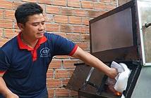 Anh kỹ sư trẻ chế máy đốt rác kết hợp đun nước sôi giá rẻ