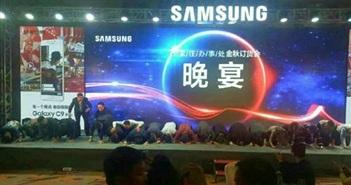 Khách hàng Trung Quốc tức giận khi giám đốc Samsung quỳ gối xin lỗi