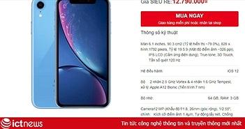 iPhone XR xuống giá dưới 11 triệu tại Việt Nam