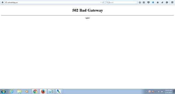 Website Online Friday bị sập vì quá tải