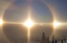 Hiện tượng Mặt trời ma hiếm gặp trên bầu trời Thụy Điển