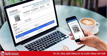 """Khách hàng ngày càng """"chuộng"""" trả cước MobiFone qua QR Pay"""