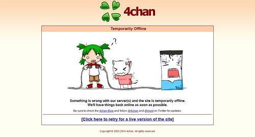4chan bị đánh sập sau vụ tấn công DDoS bằng Lizard Stresser