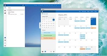 Ứng dụng mail và lịch được làm mới trên Windows 10 build 10051