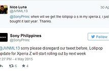 Sony Xperia Z được cập nhật Android 5.0 đầu tuần sau