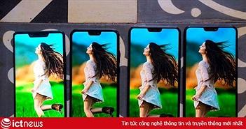 So sánh kiểu dáng 4 smartphone màn hình tai thỏ vừa ra mắt thị trường Việt Nam