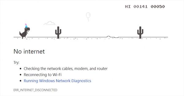 Vì sao mỗi khi mất mạng Google Chrome lại cho người dùng chơi game khủng long?