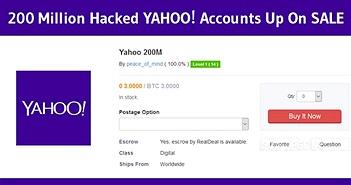 """Hacker rao bán 200 triệu tài khoản Yahoo trên """"chợ đen"""""""