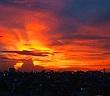 """Giải mã mây """"phượng hoàng lửa"""" xuất hiện trên bầu trời TP.HCM"""