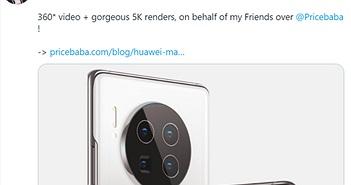"""Rò rỉ hình ảnh Huawei Mate 40 series với cụm camera """"siêu to khổng lồ"""""""
