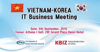 Đoàn DN CNTT Hàn Quốc sang Việt Nam tìm hiểu thị trường và tìm kiếm đối tác
