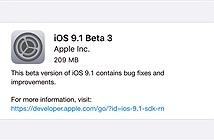 Apple phát hành iOS 9.1 beta 3