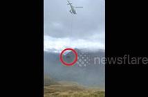 Hài hước cảnh dùng trực thăng giải cứu bò đau đẻ