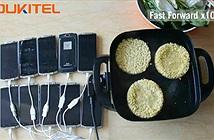 Dùng smartphone có pin 10.000 mAh để đun sôi nước nấu mỳ