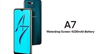 Oppo A7 ra mắt: mặt lưng thay đổi, cằm dày hơn Oppo F9