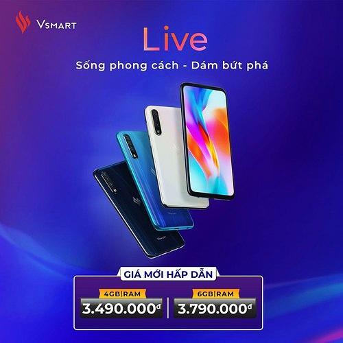 Vsmart Live giảm giá khủng 50%: kích nổ mua sắm cuối năm