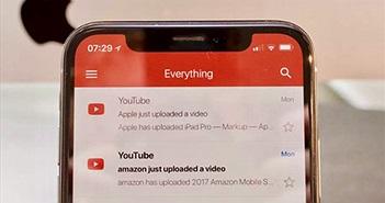 Gmail cho iOS hỗ trợ iPhone X, bổ sung email bên thứ ba
