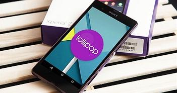 Smartphone dòng Xperia Z Series sẽ được cập nhật Android 5.0 Lollipop