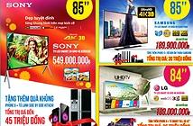 """Bộ 3 SmartTV 4K3D 85"""" khuyến mại lớn dịp Tết"""