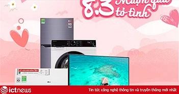 """Siêu thị điện máy gợi ý chiêu """"mượn quà tỏ tình"""" dịp 8/3"""