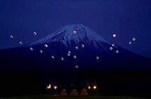 Ấn tượng màn tạo hình núi Phú Sĩ của 20 drone