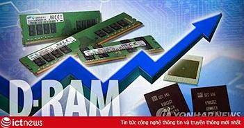 Giá DRAM trong tháng 4 tăng lên do dịch bệnh