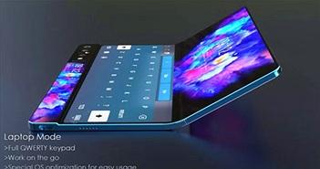 Samsung Galaxy Fold 2 xuất hiện trong video Design Concept: camera xoay lật và 3 màn hình riêng