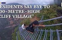 Cảnh khó tin ở ngôi làng cheo leo trên vách núi, leo hơn 2500 bậc mới tới
