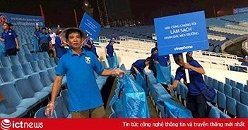 Hành động đẹp của Cổ động viên Việt Nam tại giải bóng đá quốc tế U23-Cúp VinaPhone 2018