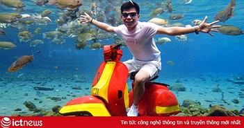 Dân du lịch Indonesia đổ xô đến 'sống ảo' dưới nước tại ngôi làng có một không hai này