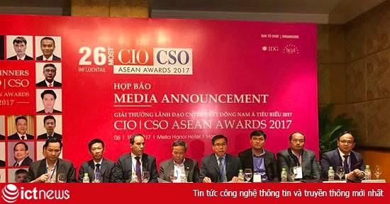 Vinh danh 26 lãnh đạo CNTT và An ninh thông tin Đông Nam Á tiêu biểu 2017