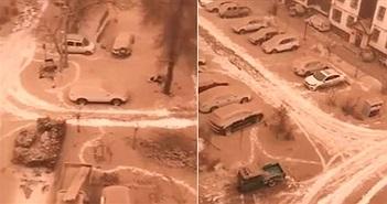 """""""Tuyết vàng"""" phủ kín nhiều thành phố ở Trung Quốc"""