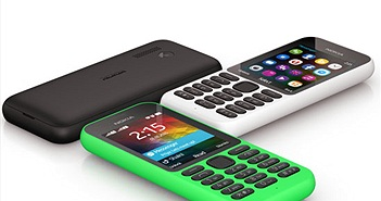 Microsoft ra mắt điện thoại Nokia 215 giá rẻ, có kết nối Internet