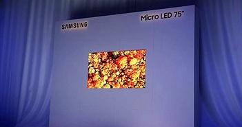 Samsung khoe TV MicroLED 75 inch siêu mỏng