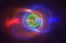 Tinh vân cầu vồng tạo bởi cuộc chiến giữa các vì sao